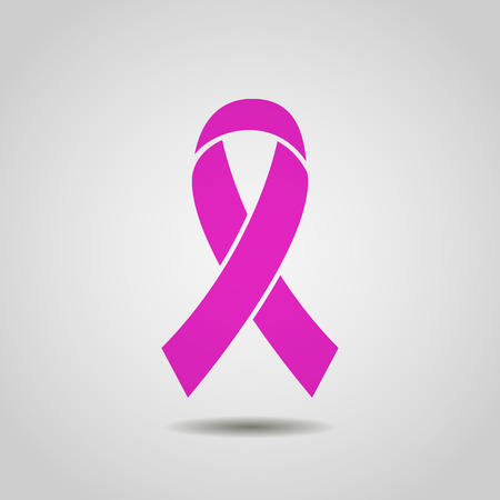 Breast Cancer Awareness Ribbon Background. stock vector