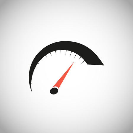 Vector speedometer icon. logo.stock vector