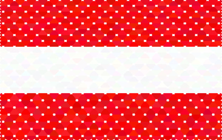 Austrian flag in the stylish design of triangles with rounded co