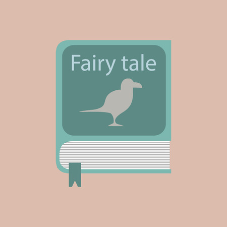fairy toadstool: book of fairy tales in the flat format. Stock vector