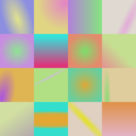 16: set of 16 colored background in one. vector