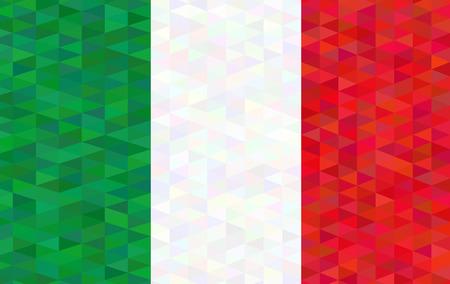 spangled: flag of italy. vector illustration Illustration