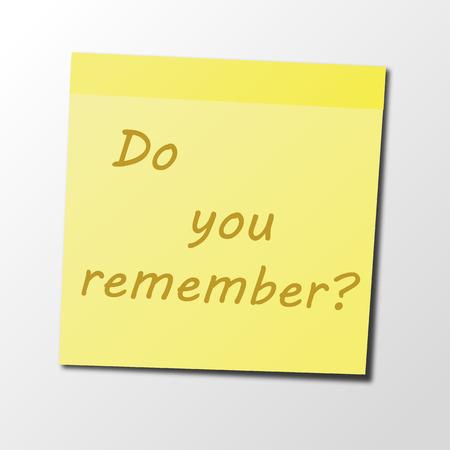 sticky note: Yellow Sticky Note. Vector Illustration