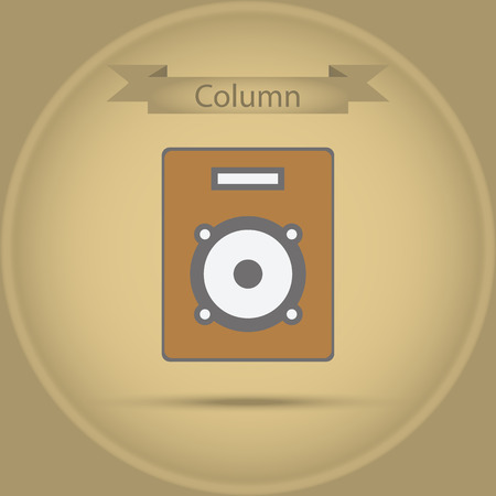 sub woofer: column - vector icon