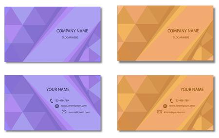 businesscard: Modern Business-Card Set Vector Design