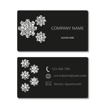 dressy: Engranajes tarjeta de visita del vector