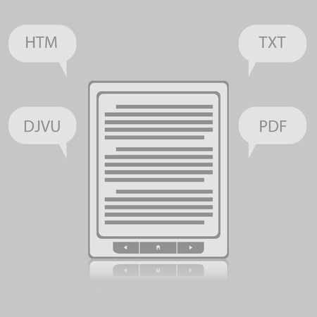 formats: Electronic Book e-book Reader with Different Formats. Subscrip