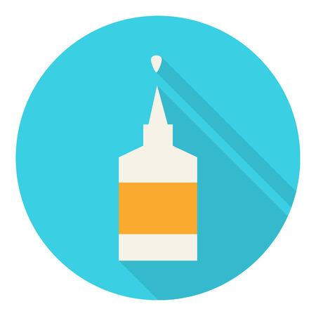 pegamento: Pegue icono vector plana