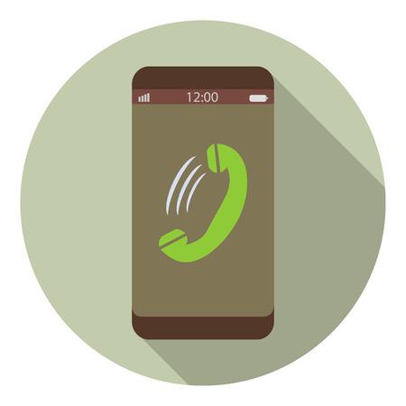 벡터 스마트 폰 수신 전화 아이콘