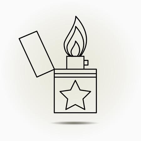 ljusare: Lighter icon.