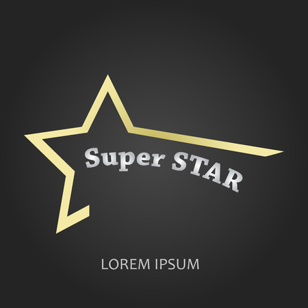 super star: icon super star.  Illustration