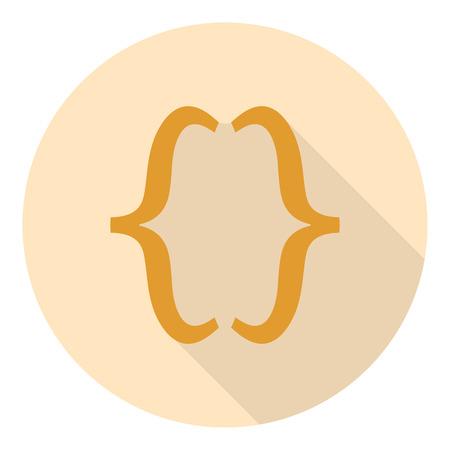 bracket: curly Bracket in flat design