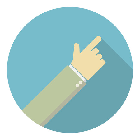 press button: forefinger in the flat style.