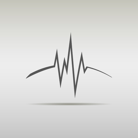 heartbeat line: Heart beat, cardiogram, medical sound waves