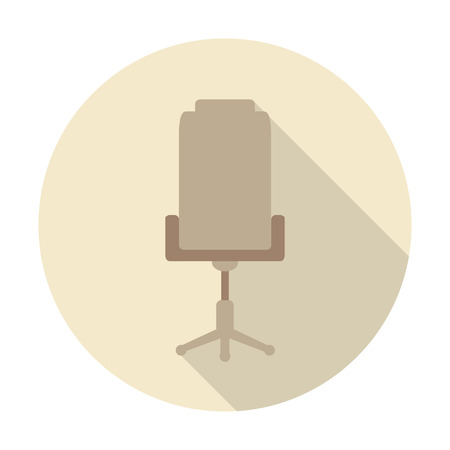 stylish chair: stylish chair for the office in the flat design
