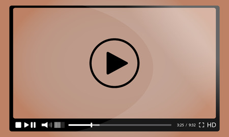 windows media video: video player for web Illustration