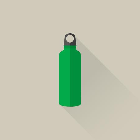 ciclo del agua: botella de agua de acero deporte