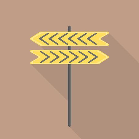 road design: Road sign icon. Flat design.