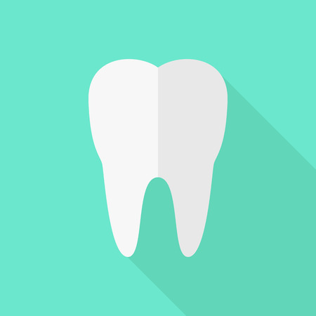 hygienist: tooth in flat design