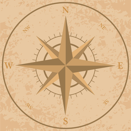 old compass: very beautiful old compass Illustration