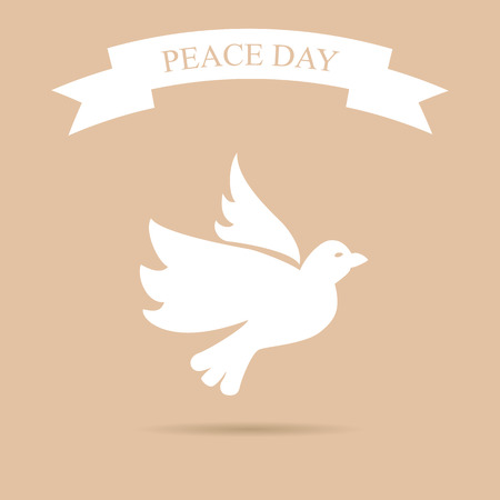 peace day: International Peace Day with dove