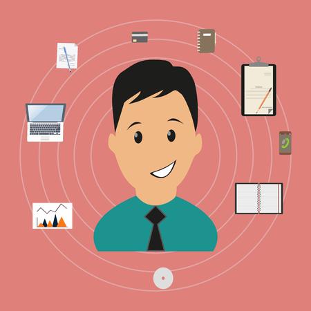 vorschlag: Employee Performance-Analyse Bewertung Rekrutierung Illustration