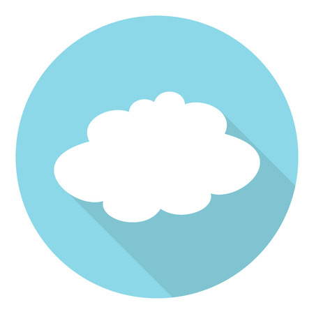 climatic: White paper cloud in flat style with long shadow
