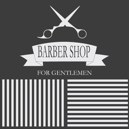 hair style collection: Hairdressing stylish gentlemen. card, business cards, labels Illustration