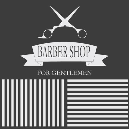 Hairdressing stylish gentlemen. card, business cards, labels Illustration