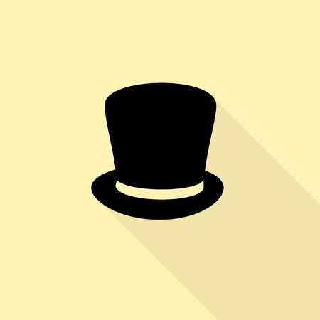 a hat: Hat cylinder flat design