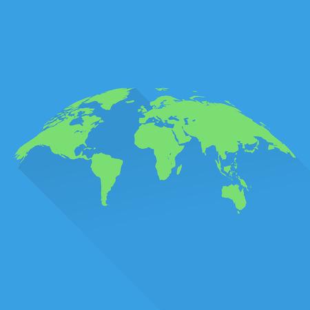 bulk: Stylish world map in green in bulk form. flat design Illustration