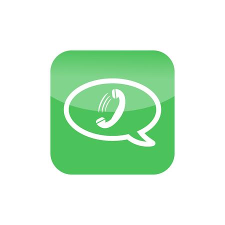 friend nobody: Phone icon. green button