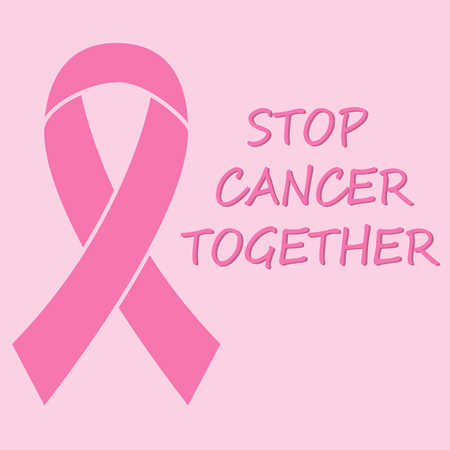 Breast Cancer Awareness Ribbon Background. stop cancer together