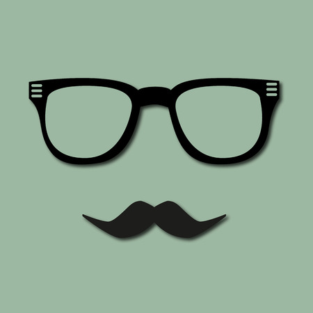 goatee: modern hipster glasses and mustaches