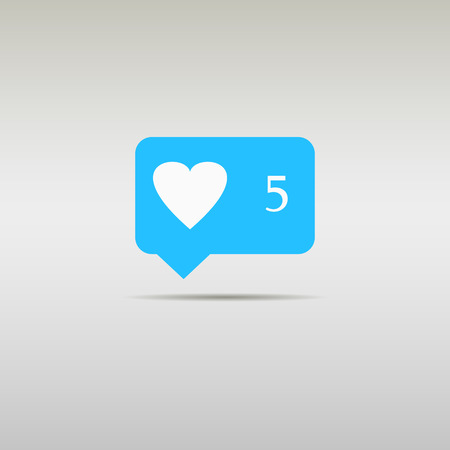 Like Counter Notification Icon Illustration