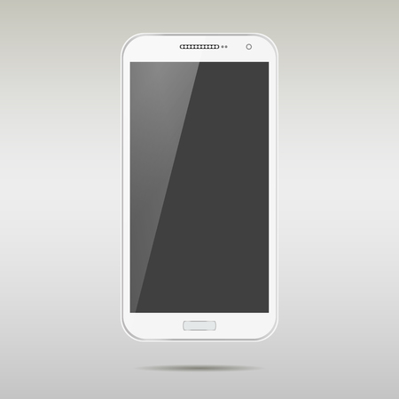 isolation: White smartphone realistic vector illustration isolation. Modern style mobile phone.