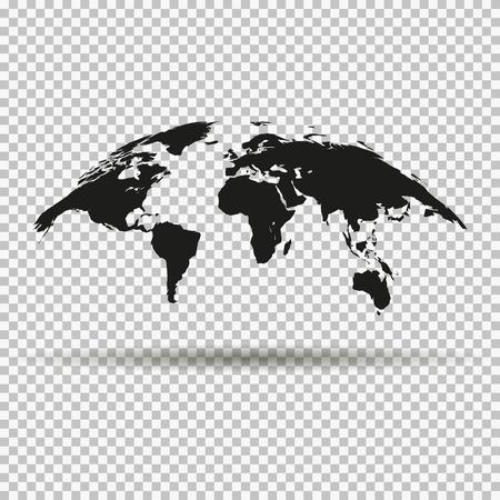 검은 세계의 유행 곡선지도 일러스트