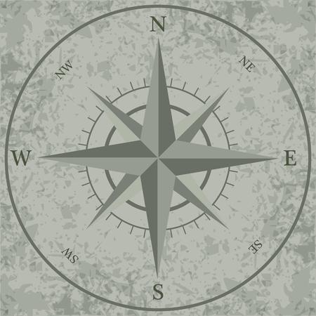 compass rose: Wind rose. retro compass