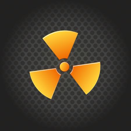 contaminate: Nuclear radiation abstract symbol