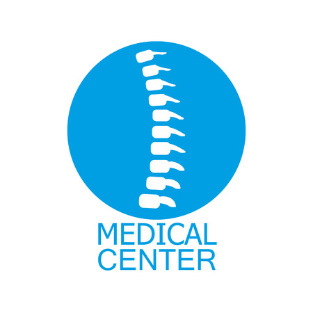 tratamientos corporales: Spine centro médico de diagnóstico en color azul Vectores