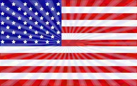 광선으로 미국 국기
