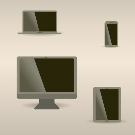 pc monitor: Computer monitor, smartphone, laptop and tablet pc