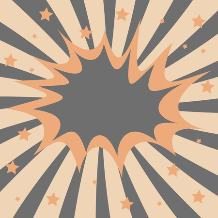 explosion steam bubble pop-art Ilustração