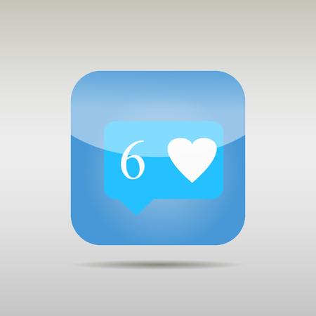 알림: button - Like Counter Notification Icon