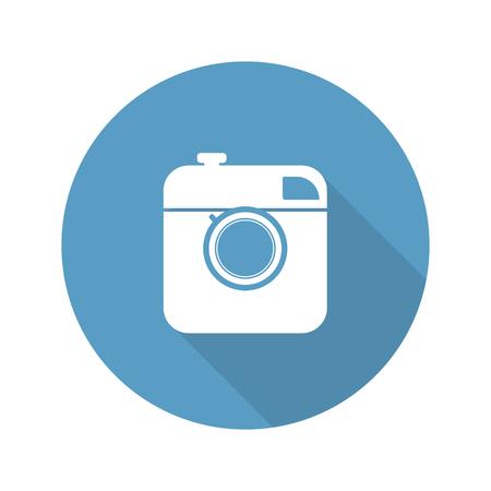 Vintage photo camera icon Vectores