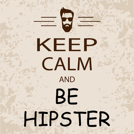 cool banner keep calm and be hipster