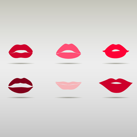 woman mouth open: set of lips