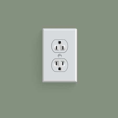electrical: electrical outlet in the USA, power socket Illustration