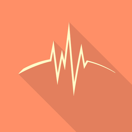 cardiograph: pulse icon Heart beat, cardiogram.