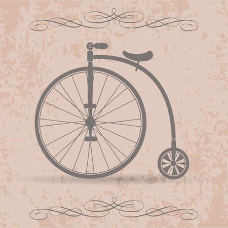 Old high wheel bicycle